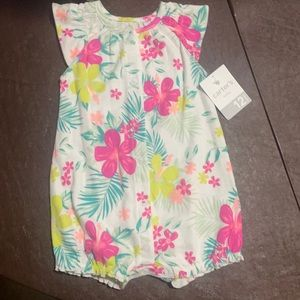 Floral print baby girl one piece